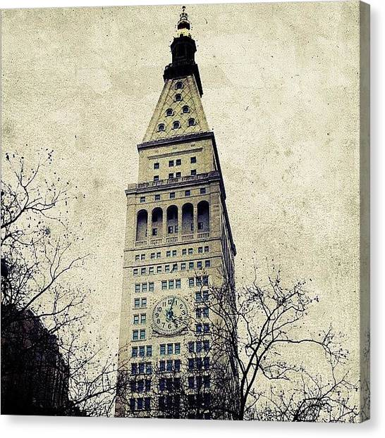 Landmarks Canvas Print - Met Life Tower by Natasha Marco