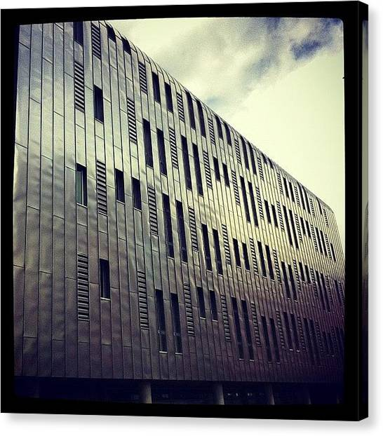 Offices Canvas Print - Metal Manchester by Tim Topping
