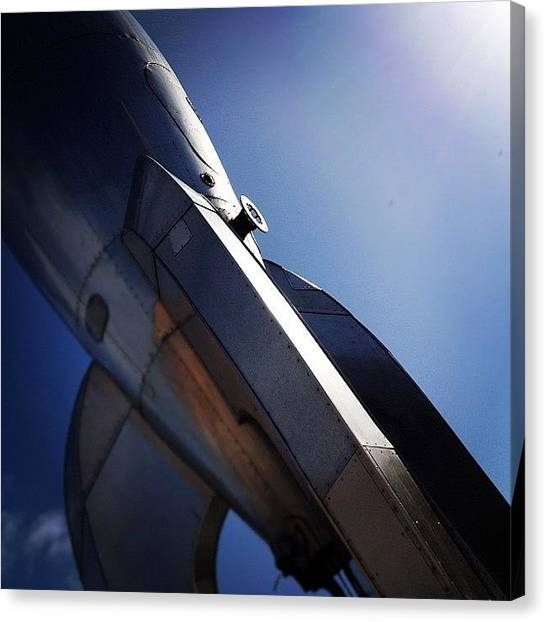 Metallic Canvas Print - #metallic #rocketship #sanfrancisco by Christy I