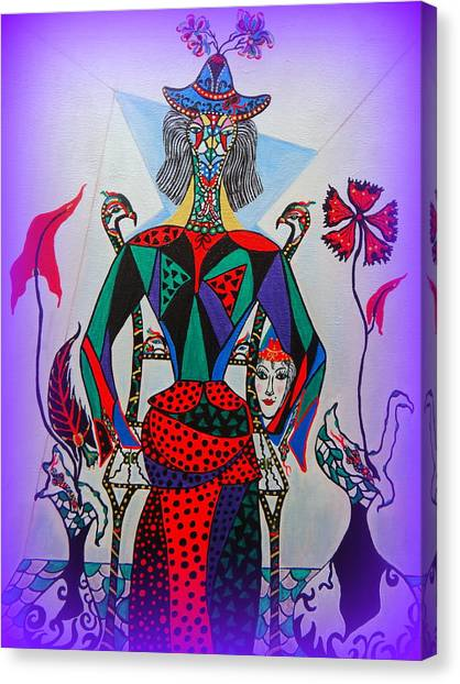 Metamorphosis Of Eleonore Into A Snake. Canvas Print
