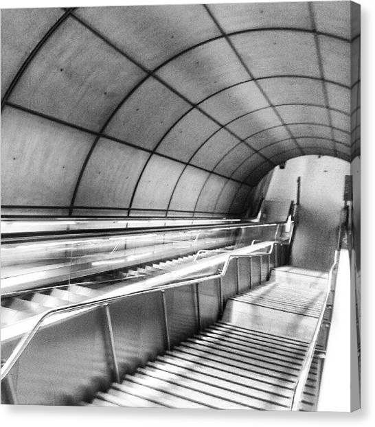 London Tube Canvas Print - #metro #bilbao By Norman Foster by David R