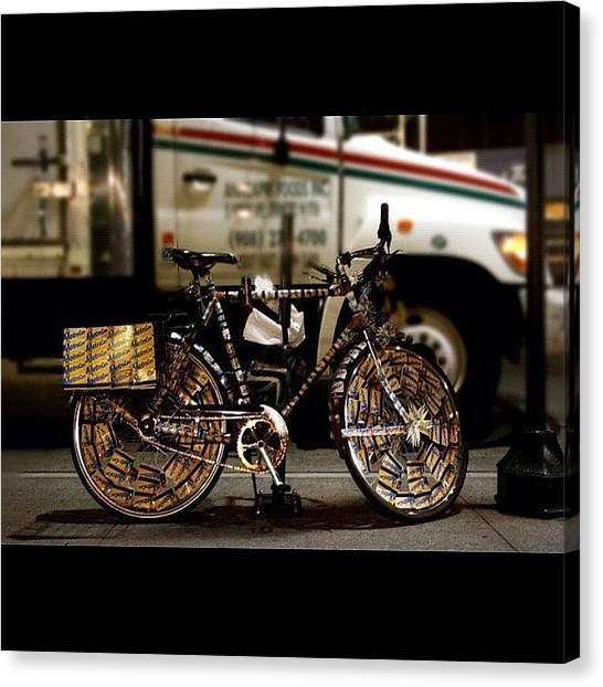 Irish Canvas Print - Metro Card Bike Nyc by Irish Mike Rachel