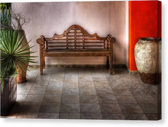 Mexican Patio Canvas Print