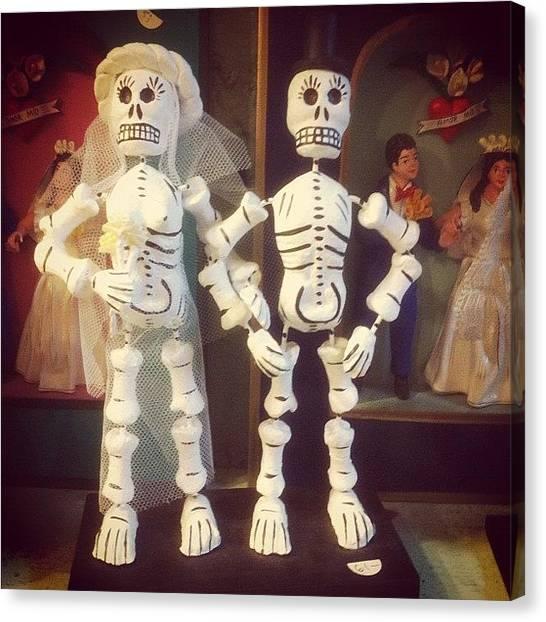 Philadelphia Canvas Print - Mexican Skeleton Wedding by Rob Harris
