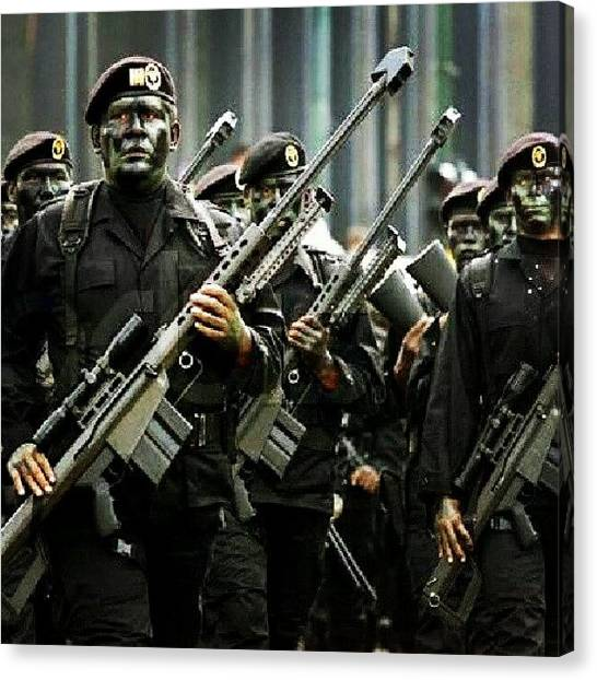 Special Forces Canvas Print - Mexican Special Forces- Elite Soldiers by Erick Barba