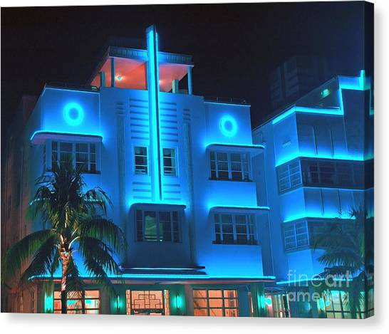 Miami Deco Lights Canvas Print
