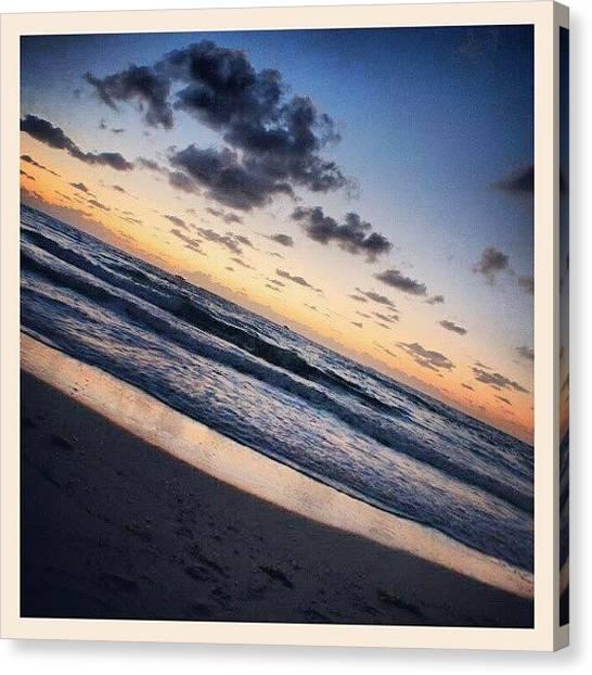 Miami Canvas Print - #miami #southbeach #sunrise  #florida by Mandy Shupp