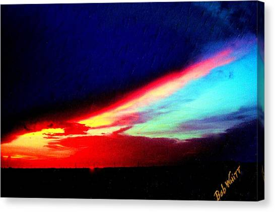 Miami Western Sky Canvas Print