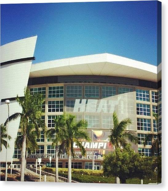 Miami Heat Canvas Print - #miamiheat #heat #miami #florida #nba by E  Marrero
