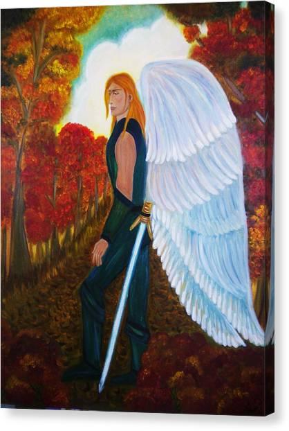 Michael - Michael Archangel Series By Yesi Casanova Canvas Print