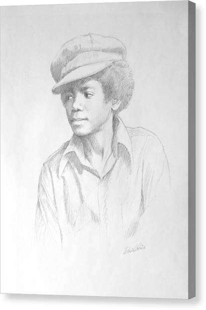 Michael Jackson Canvas Print - Michael In Cap by David Price