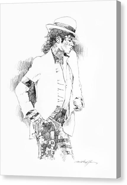 Michael Jackson Canvas Print - Michael Jackson Attitude by David Lloyd Glover