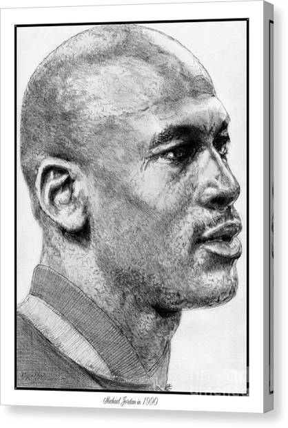 Canvas Print - Michael Jordan In 1990 by J McCombie