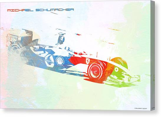 Formula Car Canvas Print - Michael Schumacher by Naxart Studio