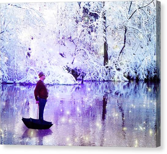 Michale Poppins Winter Adventure Canvas Print by Michael Taggart
