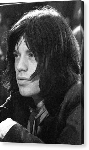 Mick Jagger Canvas Print - Mick Jagger 1968 by Chris Walter