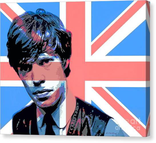 Rolling Stones Canvas Print - Mick Jagger Carnaby Street by David Lloyd Glover