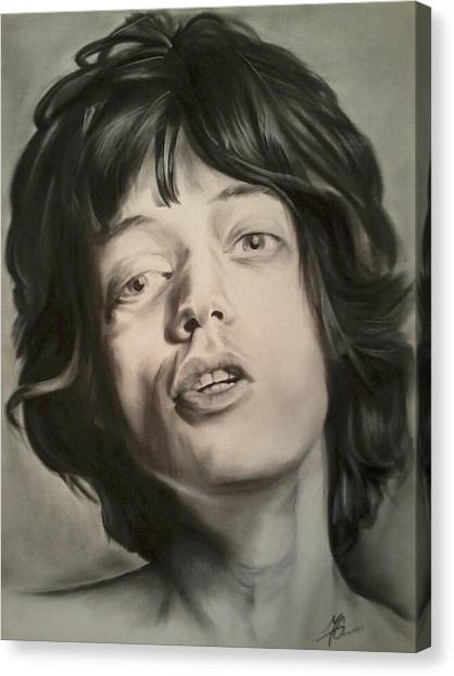 Mick Jagger Canvas Print by Morgan Greganti