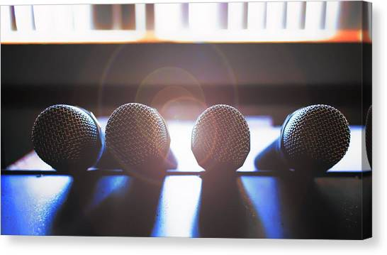 Microphone Flare Canvas Print by Bill Tiepelman