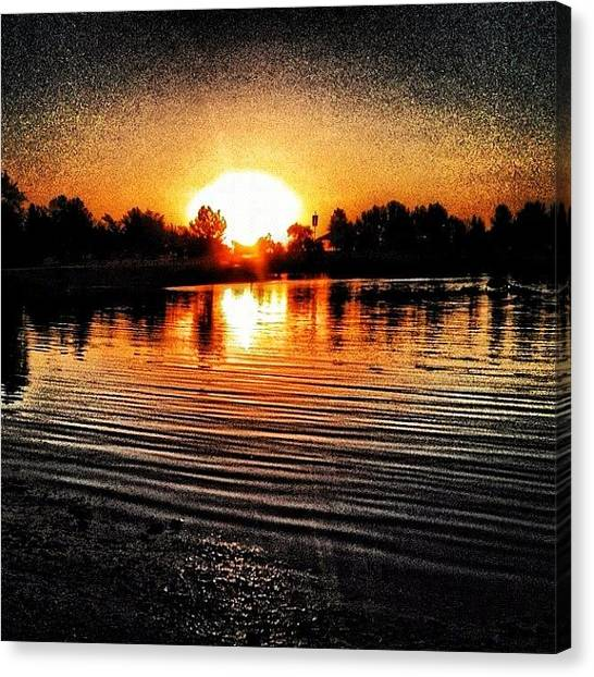 Lake Sunrises Canvas Print - Mid July ~ Corron Xtrillion #xtrillion by Glen Campbell