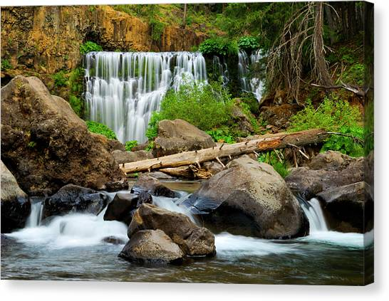 Middle Falls Of The Mccloud River Canvas Print