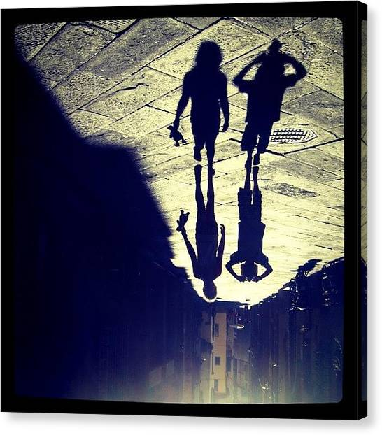 Holidays Canvas Print - Midget Walk. #rotate #shadow #kids by Robbert Ter Weijden