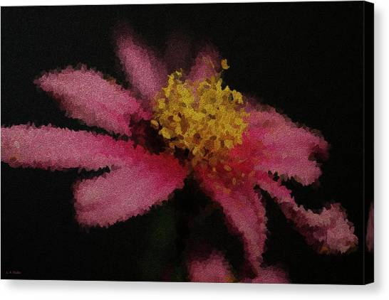 Midnight Bloom Canvas Print