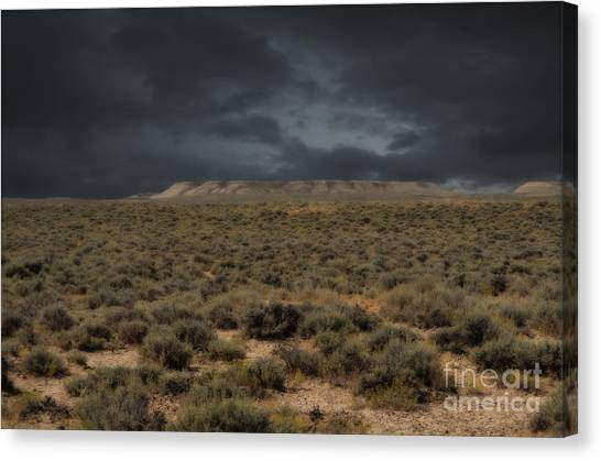 Midnight On The Pairie In Wyoming Canvas Print