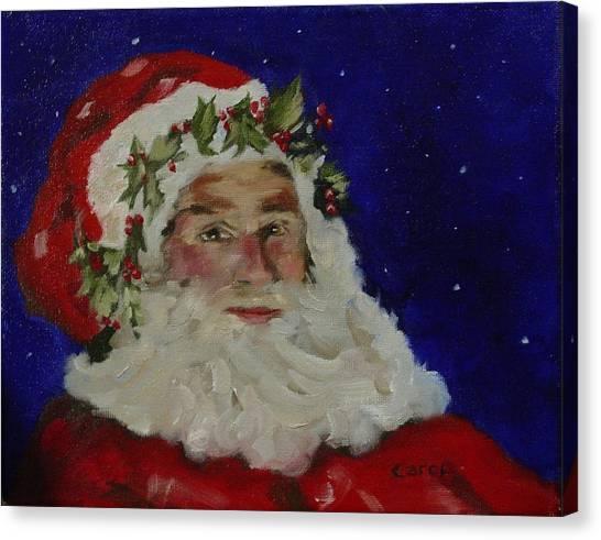 Midnight Santa Canvas Print