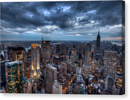Midtown Lights Canvas Print