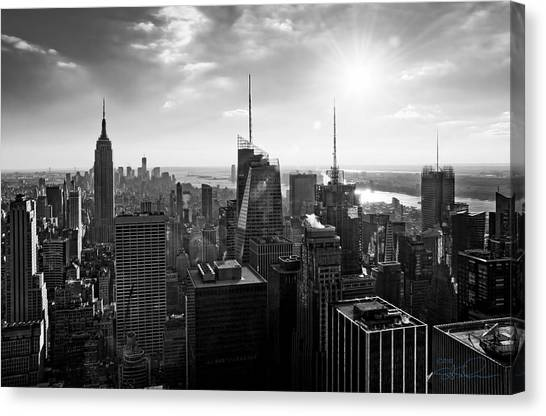 Midtown Skyline Infrared Canvas Print