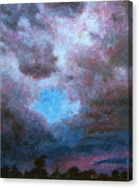 Midwest Tempest Canvas Print by Susan Moore