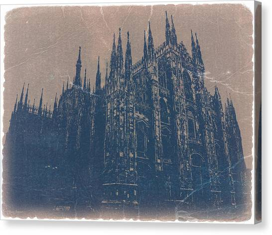 Cathedrals Canvas Print - Milan Cathedral by Naxart Studio