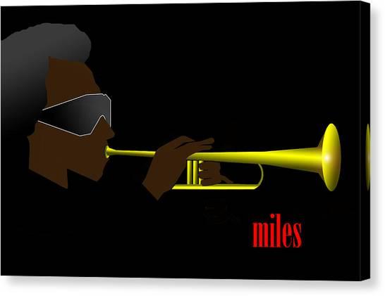Canvas Print - Miles Davis by Victor Bailey