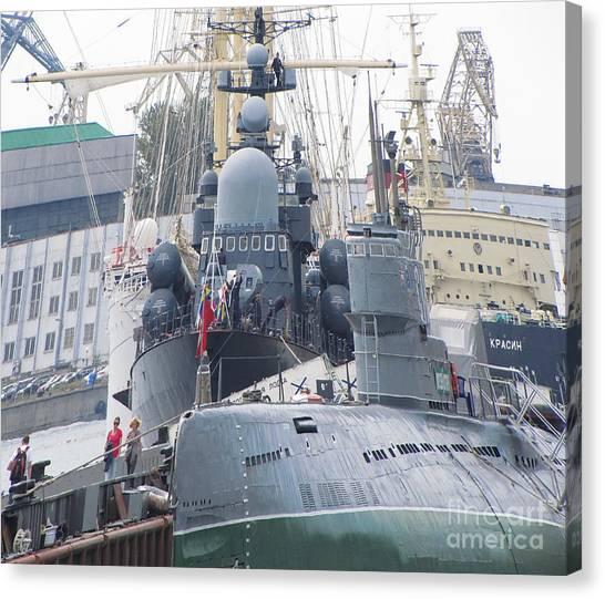 Military Port Canvas Print by Yury Bashkin