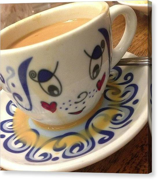 Milk Canvas Print - #milk #tea #warm #shiok #hongkong by Jerry Tang