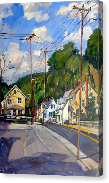 Mill Houses North Adams Canvas Print