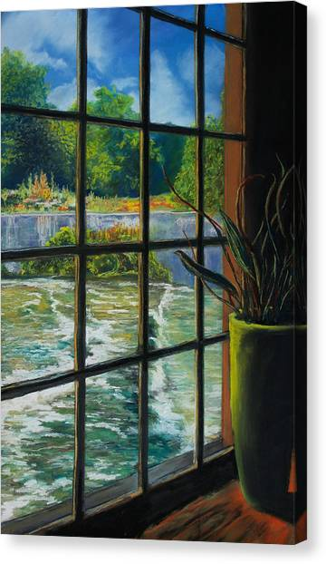 Mill With A View Canvas Print by Peter Jackson