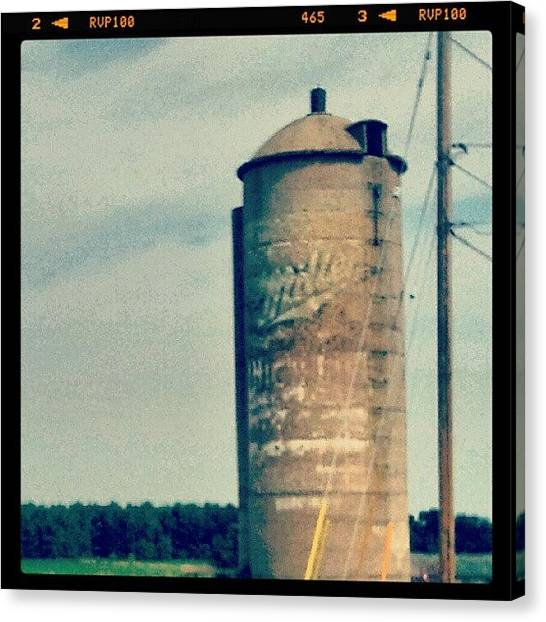 Wisconsin Canvas Print - Miller High Life On Siloh In Wi by Crystal LaTessa