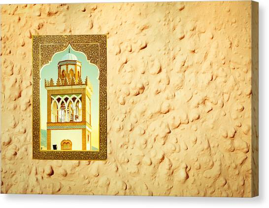 Andalusia Canvas Print - Minaret Through A Window by Tom Gowanlock