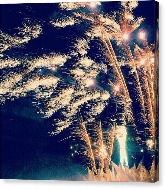 Fireworks Canvas Print - Mind Blown by Lila Sisk-Popow