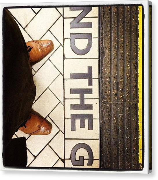 London Tube Canvas Print - Minding It by Manee Authi 🇬🇧