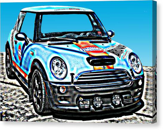 Mini Cooper Competition Canvas Print by Samuel Sheats