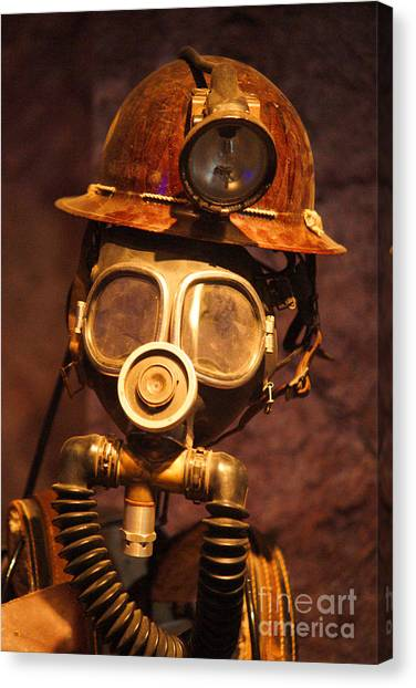 Equipment Canvas Print - Mining Man by Randy Harris