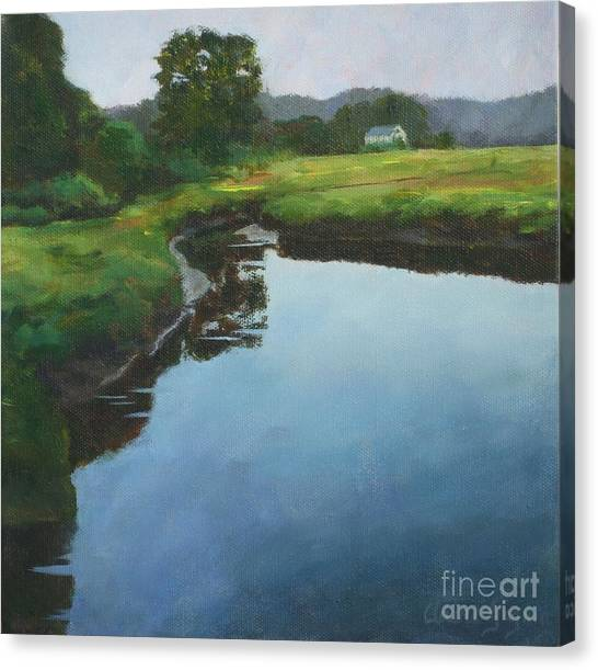 Mirror Creek In Essex Canvas Print