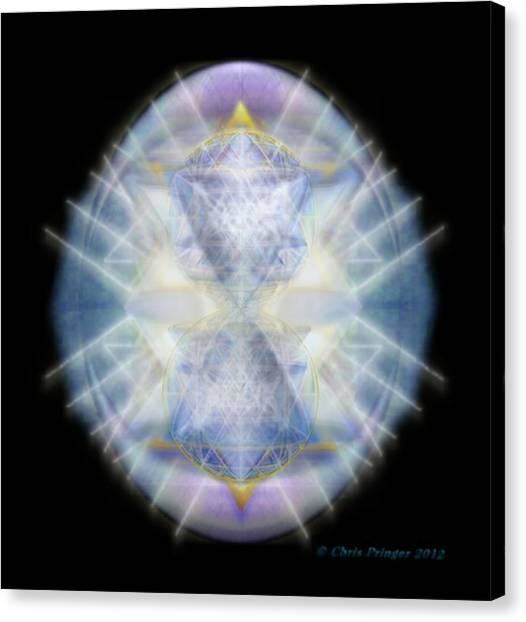 Mirror Emergence II Blue N Teal Canvas Print