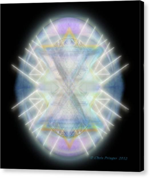 Mirror Emergence IIi Blue Green Teal Canvas Print