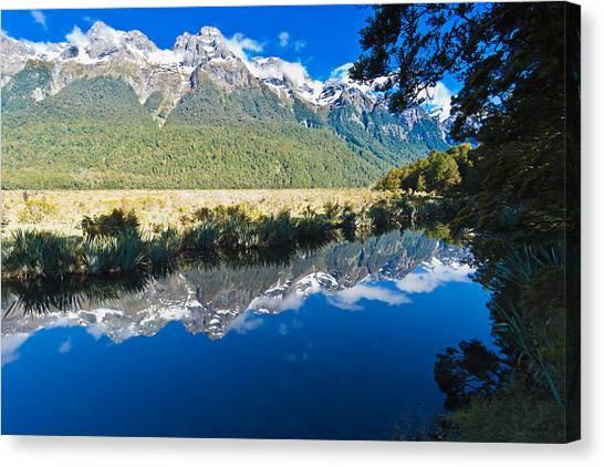 Mirror Lakes Canvas Print by Graeme Knox