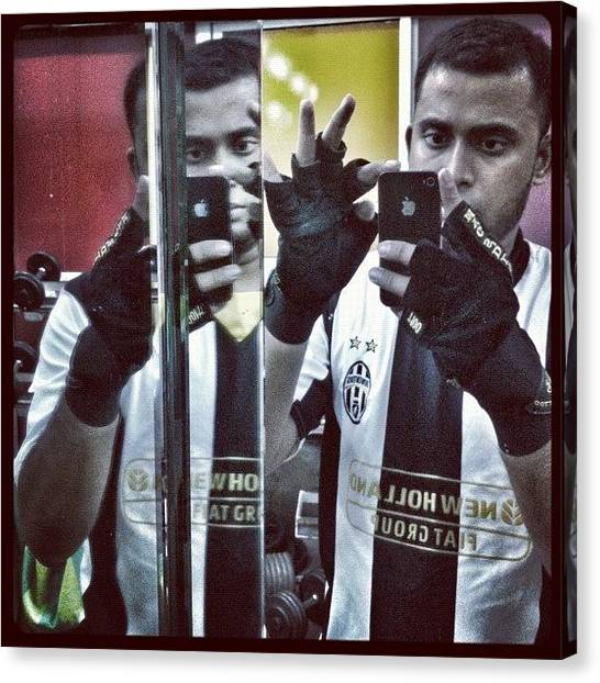 Fifa Canvas Print - #mirror #random #iphonegraphy #gym by Jaffer Shadiq