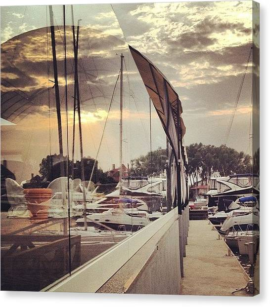 Yachts Canvas Print - Mirror Sky by Mari To